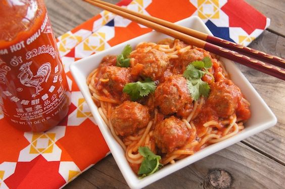 Spaghetti and meatballs, Spaghetti and Spicy on Pinterest