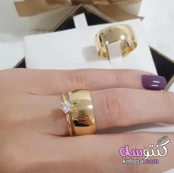 اشكال دبل لازوردى اشكال دبل خطوبة جديدة دبل جواز حديثة2019 تصاميم وصور دبل خطو Beautiful Wedding Rings Diamonds Engagement Rings Couple Wedding Rings Solitaire