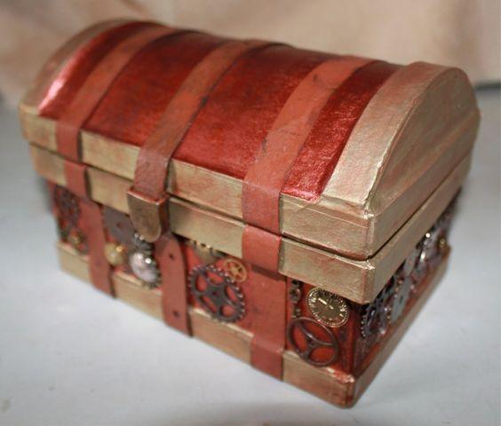 Steampunk trunk box