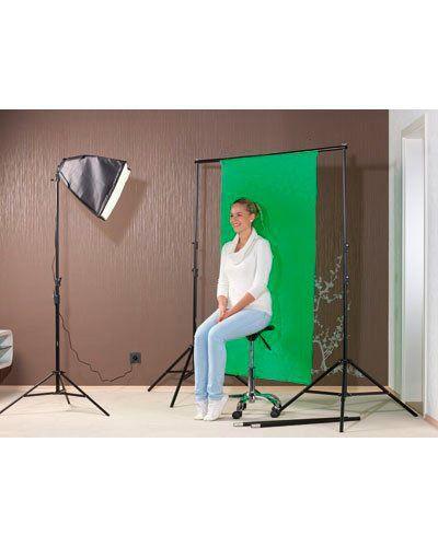 Fond vert pour arrière-plan photo et vidéo pas cher : accessoire photo | Pearl.fr