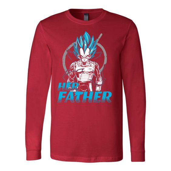 Super Saiyan Vegeta Father And Daughter Long Sleeve T shirt - TL00520LS