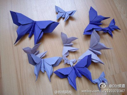 Butterfly origami tutorial.: