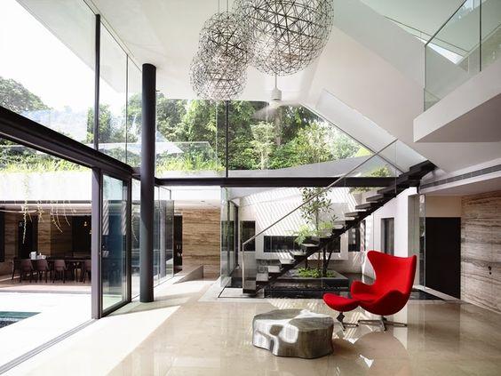 Casa com arquitetura moderna em Cingapura - linda!