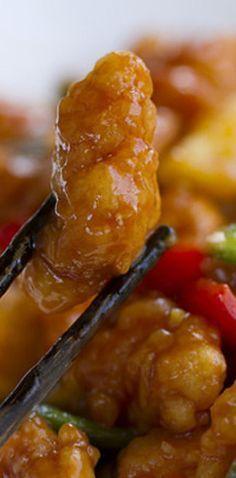 Un divino pollo agridulce. Yummy.   16 Deliciosas recetas de comida china que…