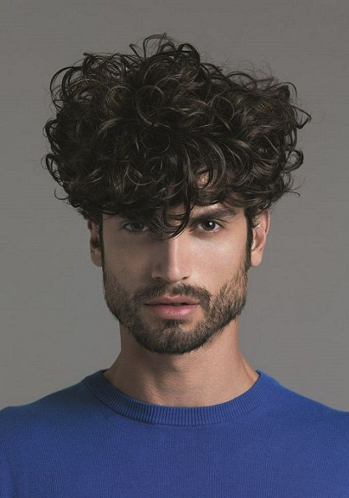 20 Medium Curly Haircuts For Mens 2018 Cabelo Masculino Cabelo