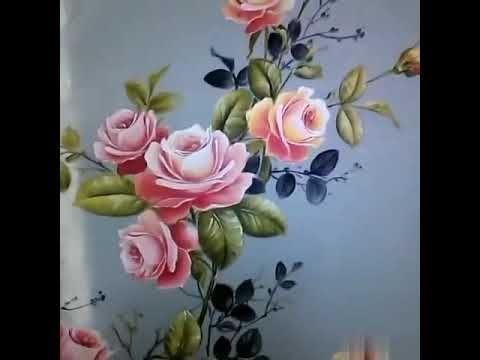 Cara Lukis Bunga Mawar Dikain Baju Oleh E1creative Dan Mmcraft Youtube Lukisan Bunga Lukisan Cara Melukis