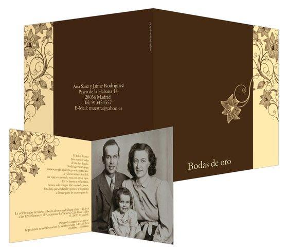 Otoño , invitaciones para bodas de oro