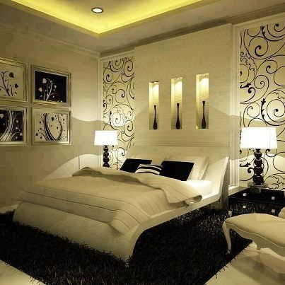 Black And White Bedrooms With A Splash Of Color Woman Bedroom Romantic Design Simple