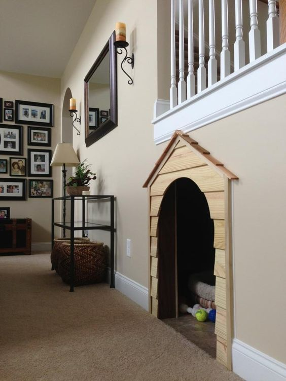 AN INSIDE DOG HOUSE! i'm not a dog but i would sleep in it if i could