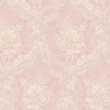 "Springtime Cottage Lace 33' x 20.5"" Floral and Botanical Embossed Wallpaper"