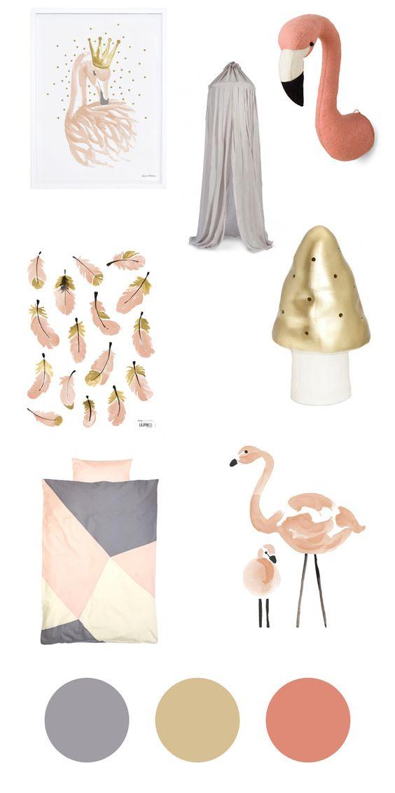 accessoires fürs kinderzimmer – flamingos für kleine mädchen, Schlafzimmer