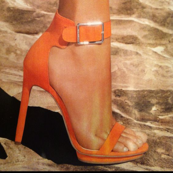 It's almost sandal season...love these Calvin Klein coral heels!