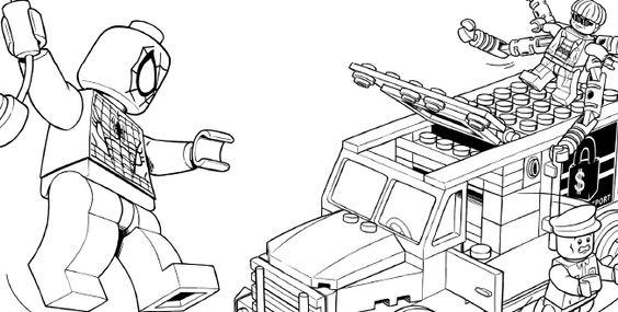 LEGO SPIDER-MAN 5 coloring sheet | LEGO® Coloring Sheets ...
