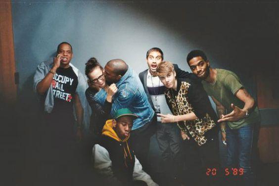 Jay-Z, Rashida Jones, Kanye West, Kid Aziz Ansari, Justin Bieber, Kid Cudi and Tyler the Creator