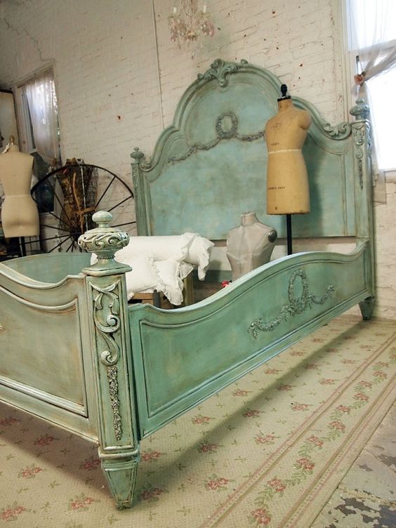 Antique Beds Wooden Beds And Painted Cottage On Pinterest