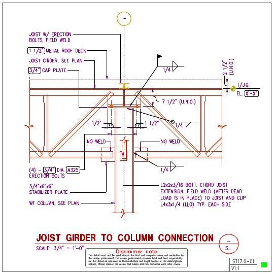 Joist Connection Details Steel Structure Roof Deck How To Plan