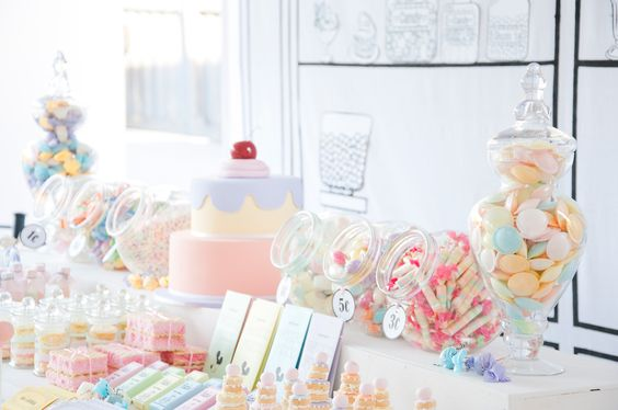 Vintage Candy Store party - pretty pastels!: