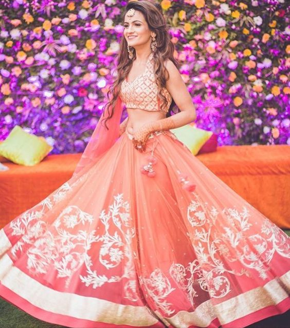 Indian Lehenga Choli Designs For Wedding Pink Designer outfit
