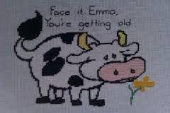 Resultado de imagem para cows cross stitch
