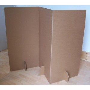 Casitas de cart n paperpod el biombo en reciclado - Como hacer un biombo ...