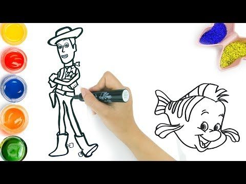 How To Draw Color And Glitter Airplane Cartoon Drawing And