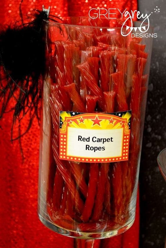 Red, red carpet, Hollywood, Golden Statue Birthday Party Ideas | Photo 1 of 32 | Catch My Party