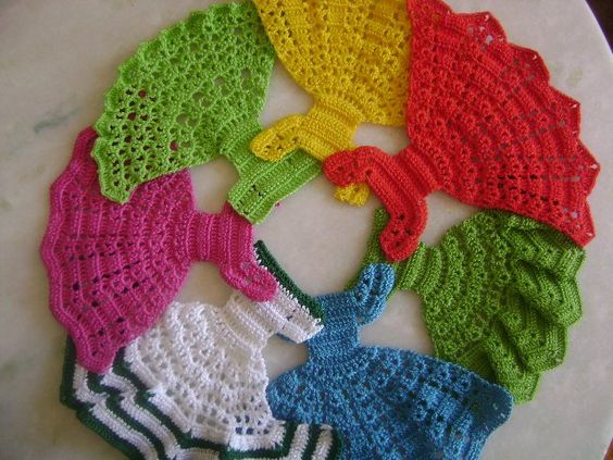 Схемы для вязания крючком платьев для барби