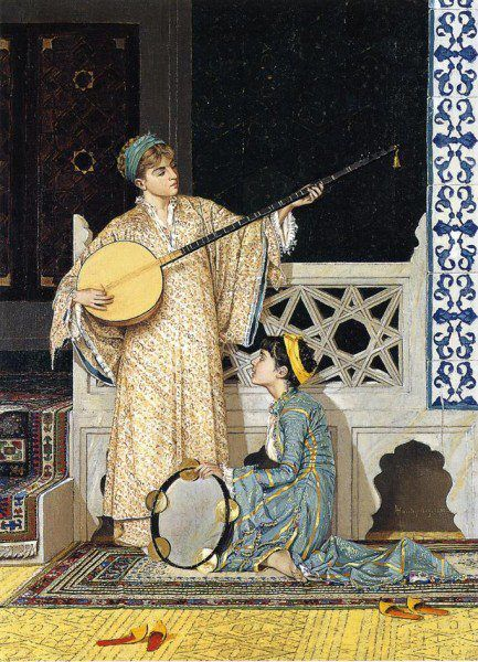 Osman Hamdi Bey (1842-1910) - The Musician Girls, 1880