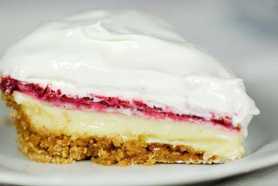 Raspberry Lemon Pie... this screams summer!