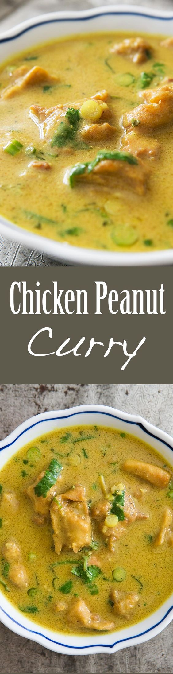 Chicken Peanut Curry ~ West African inspired chicken peanut curry ...