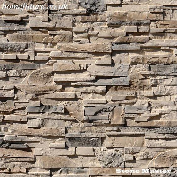 Decorative Slate Wall Tiles Rustic Real Slate Panel ⅓ Sq M Box  Studio  Pinterest  Slate
