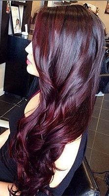 cheveux coloration couleur coiffures tresses framboises appart maquillage yeux idee coiffure - Coloration Cheveux Prune