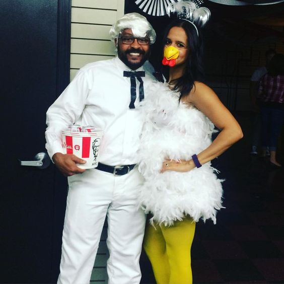 Pin for Later: See This Year's Most Creative DIY Halloween Costumes! Colonel Sanders and Chicken