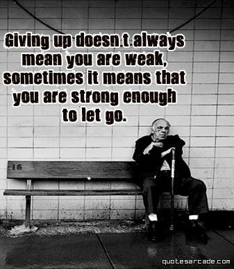 strong enough to let go