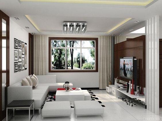 Desain Interior Ruang Tamu Minimalis Modern Smp Pinterest And Interiors