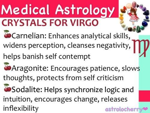 Medical Astrology: Crystals for Virgo
