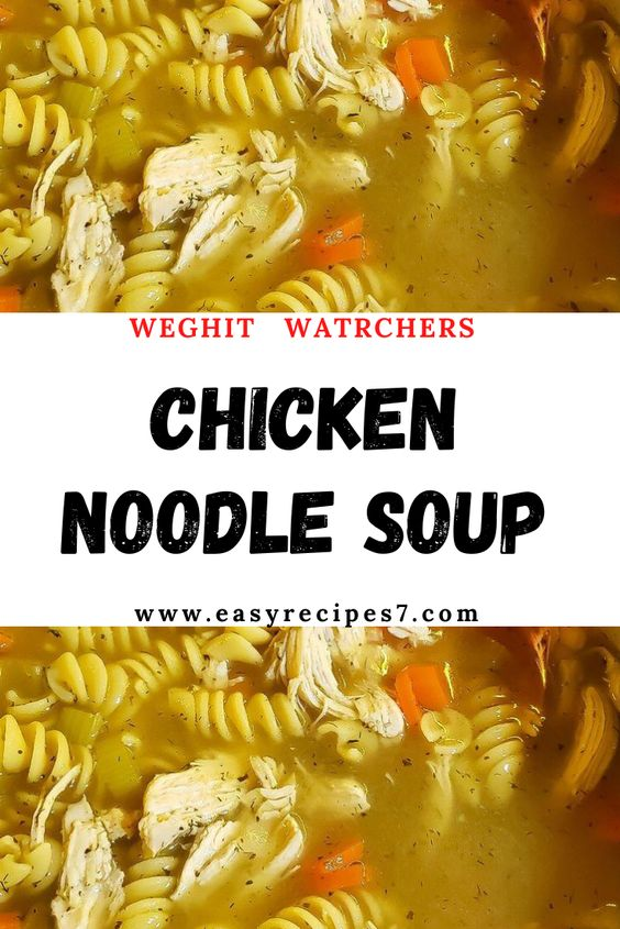#Chicken #Noodle #Soup Chicken Noodle Soup #WEIGHT #WATCHERS  #NUTRITION #FACTS: Amount Per Serving #Calories 232Calories from Fat 99 % Daily Value* #Fat 11g17% #Saturated #Fat 2g13% #Cholesterol 44mg15% #Sodium 783mg34% #Potassium 279mg8% #Carbohydrates 20g7% #Fiber 1g4% #Sugar 1g1% #Protein 12g24% #Vitamin A 2085IU42% #Vitamin C 1.7mg2% #Calcium 26mg3% #Iron 0.9mg5%