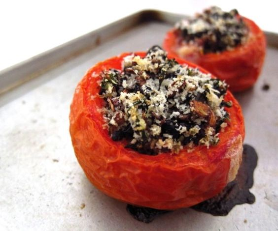 Chubby Hubby - My improvised herb-stuffed tomatoes