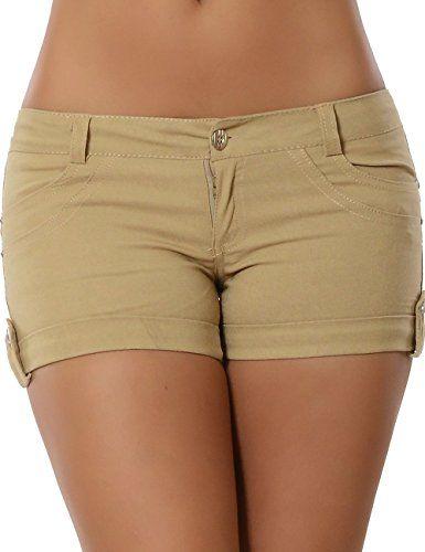 Damen Hotpants (weitere Farben) No 13162, Größe:L 40;Farbe:Beige