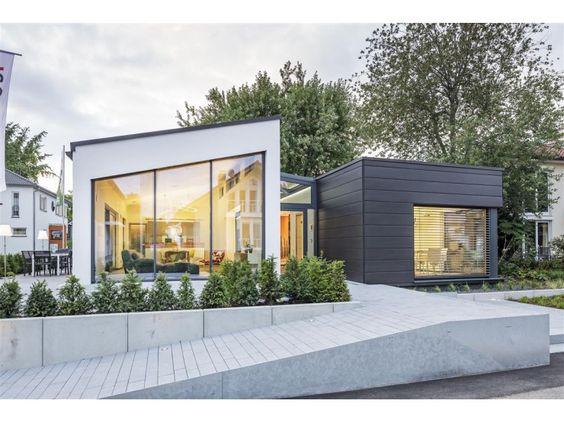 Doppelgarage modern pultdach  LUXHAUS | open - Einfamilienhaus von LUXHAUS Vertrieb GmbH & Co ...