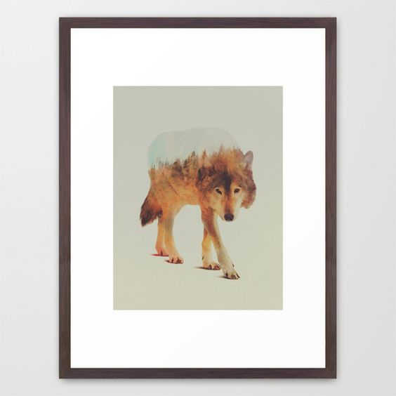 Wolf In The Woods #2 Framed Art Print