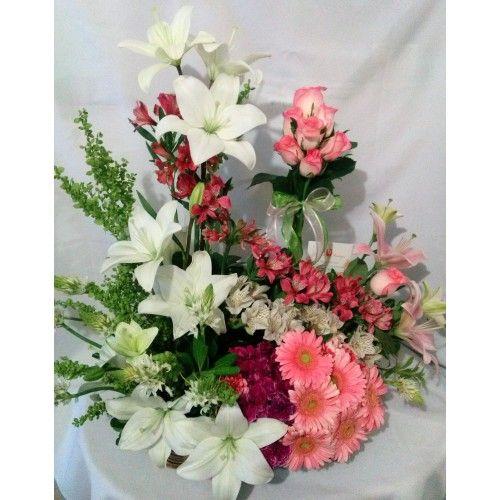 A 22 Arreglo Floral Grande Una Escalera De Astromelia