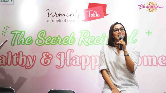 Donna Agnesia was sharing at Women's Talk