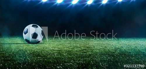 Football Or Soccer Background With Spotlights Ad Soccer Football Spotlights Background Ad In 2020 Soccer Backgrounds Soccer Photo