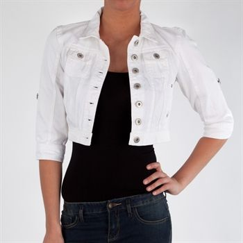 Highway Jeans Juniors Cropped Roll-Sleeve Jean Jacket #VonMaur ...