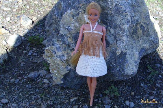 """Puppenkleidung - ** Minikleid mit """"Lederspitze"""" ** für Barbie **  - ein Designerstück von Sabisilke bei DaWanda"""