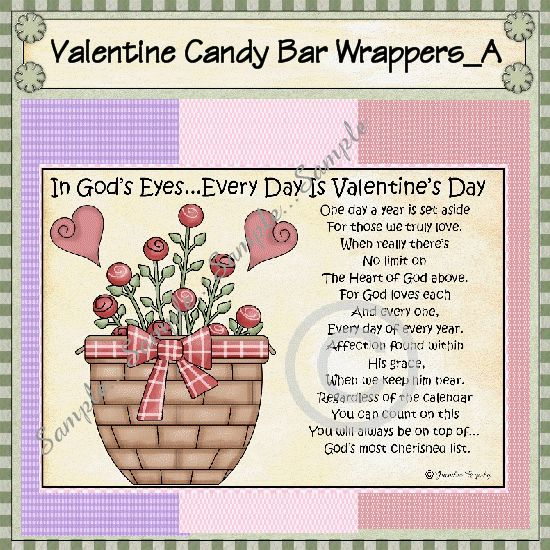 valentine's day candy poem - i got this idea from a friend of one, Ideas