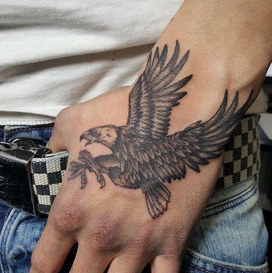 eagle hand tattoo ideas for men