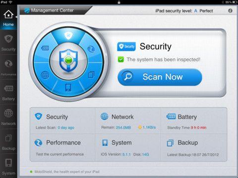 MobiShield HD, completa aplicación para gestionar la seguridad de nuestro iPad