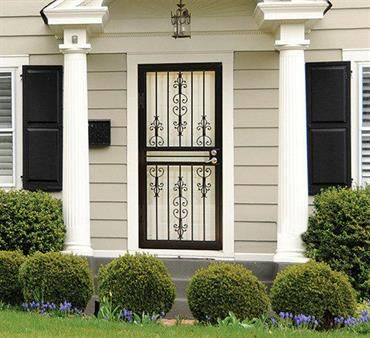 Larson Gardenview Storm Door Provides Security And Beauty
